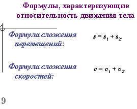 относительность движения задачи графики