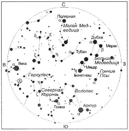 Созвездия вблизи зенита просмотров 421